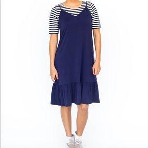 Agnes & Dora Navy Slip Dress NEW 2X XXL